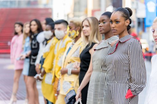 NEW YORK FASHION WEEK KICKS OFF IN TIMES SQUARE